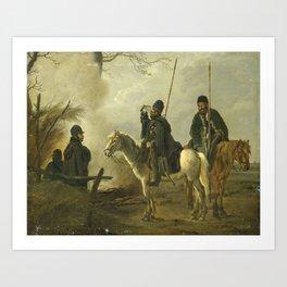 Cossack Outpost in 1813, Pieter Gerardus van Os, 1813 - 1815 Art Print