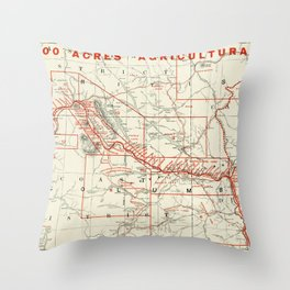 British Columbia Railway Map Throw Pillow