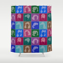 50 hairstyles Shower Curtain