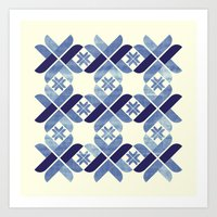 nordic Art Prints featuring Nordic Blue by Kata