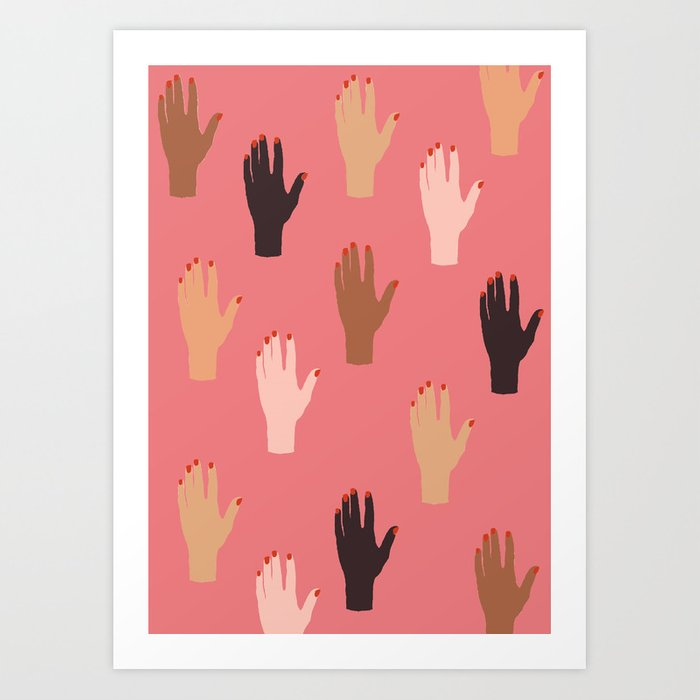 LADY FINGERS Art Print
