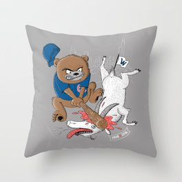 The Goat is Dead! (grey version) Throw Pillow