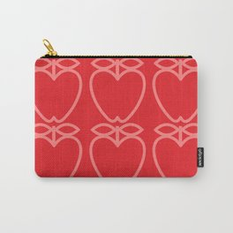 MCM Apples Pink & Red Carry-All Pouch