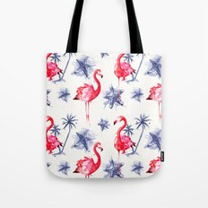 Beach Flamingos Tote Bag