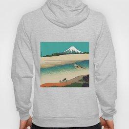 Tama River and Mount Fuji Hoody