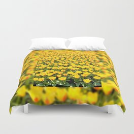 Yellow and red Stresa tulips abloom Duvet Cover