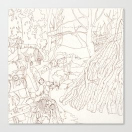 Line Forest Canvas Print