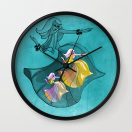 disocfever - turquoise Wall Clock