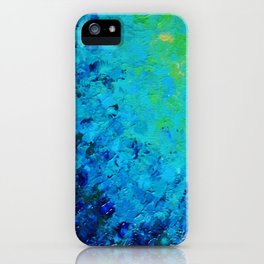 TRUE REFLECTION - Ocean Water Waves Ripple Light Impressionist Bright Colors Ombre Painting iPhone Case