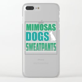 Mimosas Dogs Sweatpants Clear iPhone Case