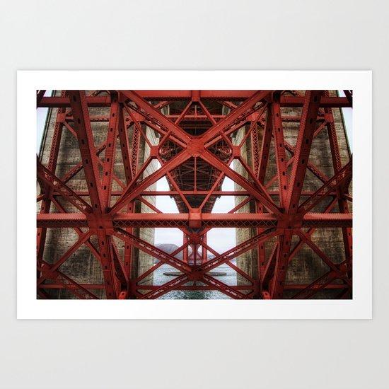 Golden Gate Underbelly Art Print