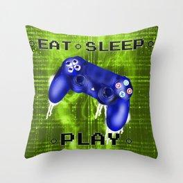 EAT.SLEEP.PLAY Throw Pillow