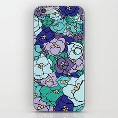 - peonies in blue -  iPhone & iPod Skin