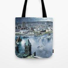 Earth Falls Away Tote Bag