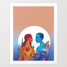 Dos Cuerpos Art Print