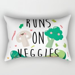 Runs On Veggies Rectangular Pillow