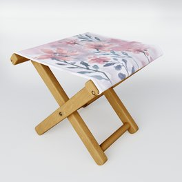 Watercolor Floral #1 Folding Stool