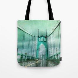 St John's Bridge Portland Oregon Tote Bag