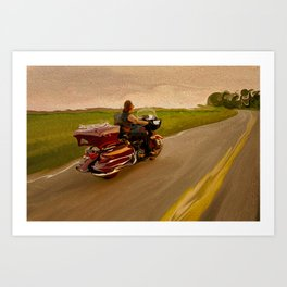 Charley's Afternoon Motorcycle Ride Art Print