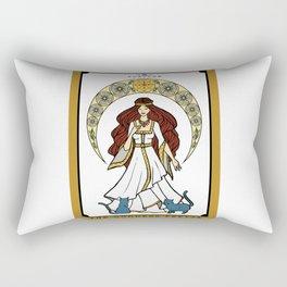 The Norse Goddess Freyja Tarot Card Rectangular Pillow