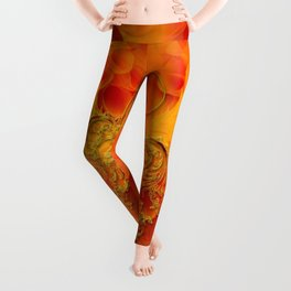 Clef with flowers Leggings