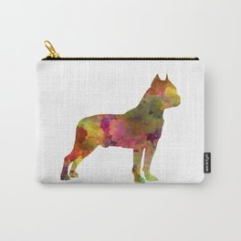 American Staffordshire Terrier in watercolor Carry-All Pouch