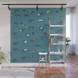 Blue Lures Wall Mural