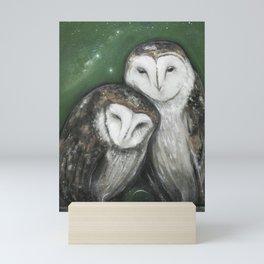 Soul Mates (Barn Owls) Mini Art Print