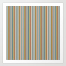 Robot Babies Stripes Art Print
