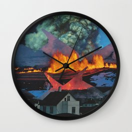 Beyond These Four Walls Wall Clock