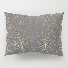 Art Deco in Gold & Grey Pillow Sham