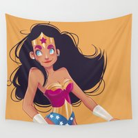 wonder Wall Tapestries featuring Wonder! by Chabe Escalante