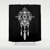 cosmic Shower Curtains featuring Cosmic Dreamcatcher by Picomodi