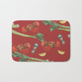 cocktail recipe pattern_ bloody mary Bath Mat