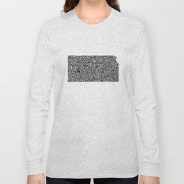 Typographic Kansas Long Sleeve T-shirt