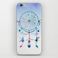dream catcher iPhone & iPod Skins featuring Dream Catcher by General Design Studio