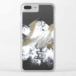 Gold Mountains Clear iPhone Case