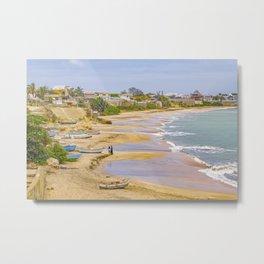 Ballenita Beach Santa Elena Ecuador Metal Print