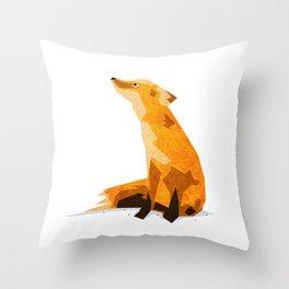 The Chillin' Fox Throw Pillow