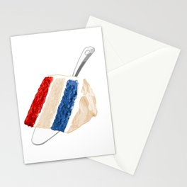 Red White and Blue Cake Stationery Cards
