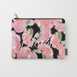 Blush Peony Blessed Carry-All Pouch