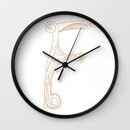 Fancy F Wall Clock
