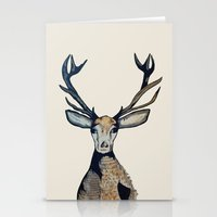 stag Stationery Cards featuring Stag by The Art Hutch