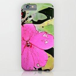 pink Impatiens - flower iPhone Case