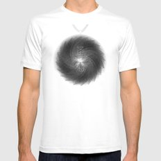 Spirobling XVIII White Mens Fitted Tee MEDIUM