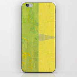 Green and Yellow Collage with Stripes iPhone Skin