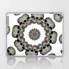 Creepy Human Skull Mandala Laptop & iPad Skin