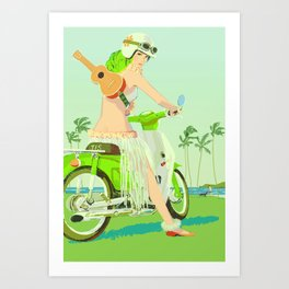 Ukulele Girl Art Print