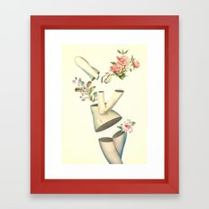 Think Too Much Framed Art Print