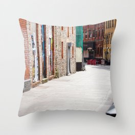 Quiet Street Throw Pillow